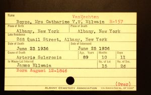 Boyce, Mrs. Catherine V. B. Milwain - Menands Funeral Card