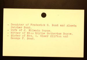 Boyce, Mrs. Elizabeth Bond - Menands Funeral Card (back)