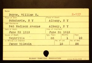 Boyce, William H - Menands Funeral Card