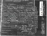 Cutter, M - Birth Certificate