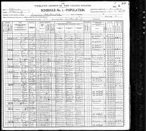 Dunbar, Clarence, 1900, Census, USA, Prairie City, McDonough, Illinois