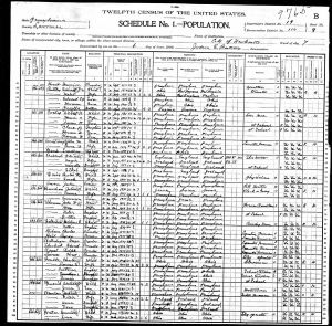 Foulke, Charles Wesley, 1900, Census, USA, Newcastle Ward 7, Lawrence, Pennsylvania