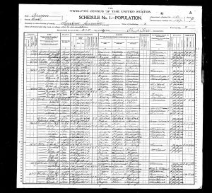 Russell, Charles Edmond, 1900, Census, USA, Siuslaw, Lane, Oregon