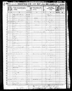 Clement, Henry A, 1850, Census, USA, Albany Ward 10, Albany, New York