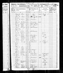 Bratt, James, 1850, Census, USA, Schenectady Ward 2, Schenectady, New York