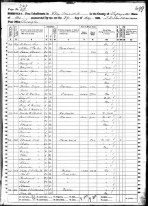 Leftwich, Sally Saunders Claytor, 1860, Census, USA, Clay, Lafayette, Missouri