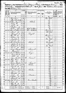 Clement, Henry A, 1860, Census, USA, Albany Ward 10, Albany, New York