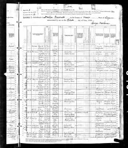 Spangler, John, 1880, Census, USA, Dalles, Wasco, Oregon