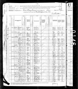 Luper, John A, 1880, Census, USA, West Albany, Albany, Oregon