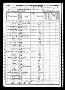 Mead, Alfred, 1870, Census, USA, Bardolph, McDonough, Illinois