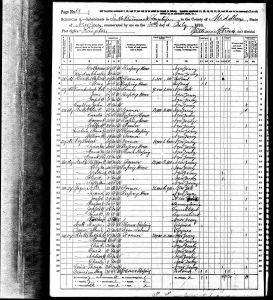 Conkey, John Franklin, 1870, Census, USA, South Brunswick, Middlesex, New Jersey
