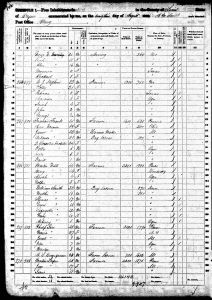 Luper, James Martin Bernheisel, 1860, Census, USA, Albany, Linn, Oregon