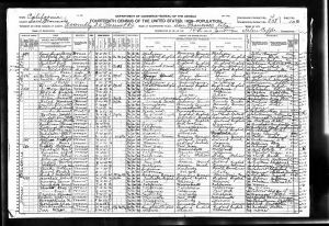 Smith, Harry Frances, 1920, Census, USA, San Francisco, California