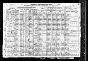 Carroll, James, 1920, Census, USA, Chicago, Cook, Illinois, USA