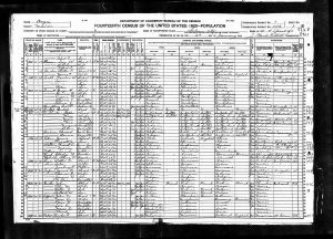 Luper, James Reah, 1920, Census, USA, Salem Ward 4, Marion, Oregon