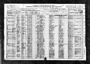 Choate, Nathan M, 1920, Census, USA, Guthrie Ward 5, Logan, Oklahoma