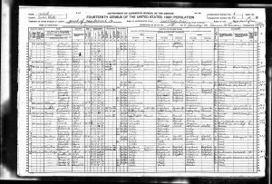 Census USA 1920 Year: 1920; Census Place: Salt Lake City Ward 1