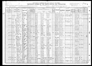 Census 1910 Bountiful, Davis, Utah FHL microfilm: 1375616