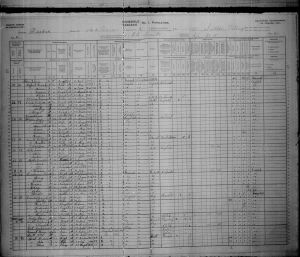 Cutter, FA 1901 Canadian Census