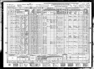 Rutherford, Walter Scott, 1940, Census, USA, Bardolph, McDonough, Illinois