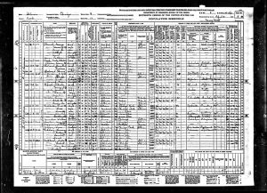 Olson, Augusta T, 1940, Census, USA, Chicago, Cook, Illinois, USA