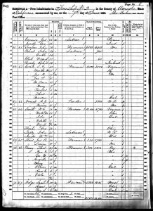 Smith, William Jasper, 1860, Census, USA, Township 2, Amador, CA