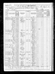 Smith, William Jasper, 1870, Census, USA, Anaheim, Orange, California