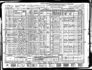 Luper, Harriet Elizabeth, 1940, Census, USA, Los Angeles, California