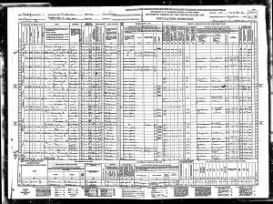Courtney, Archie, 1940, Census, USA, Fullerton, Orange, California