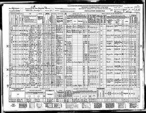Spangler, Marton Luper, 1940, Census, USA, South San Francisco, San Mateo, California