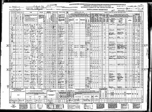 Bratt, Gerrit Teunis, 1940, Census, USA, Los Angeles, Los Angeles, California