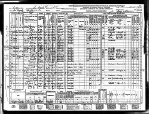 Census 1940 Los Angeles, Los Angeles, California Bratt, Edward and Marjorie