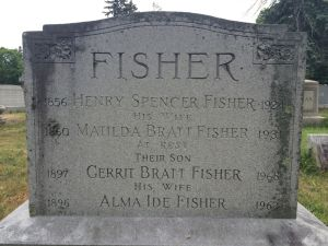 Fisher, Henry S and Matilda R Bratt Headstone